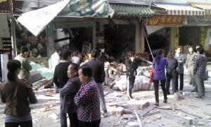 <b>常平一餐馆发生爆炸成废墟</b>