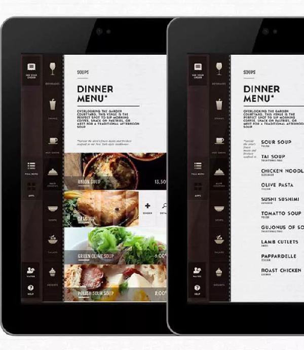 电子菜单vs纸质菜单,你选择哪个