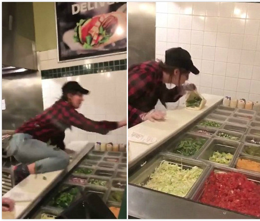 无良店员往食物里吐口水,并称不满顾客态度