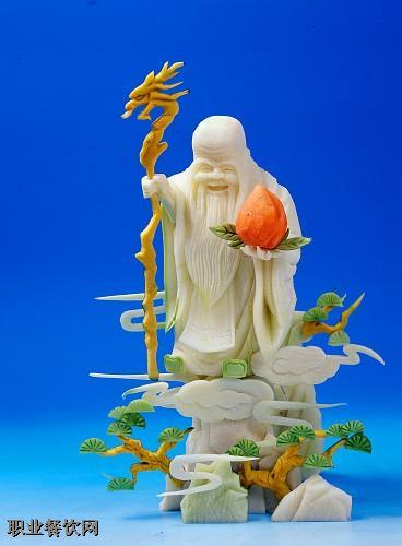 食品雕刻寿星