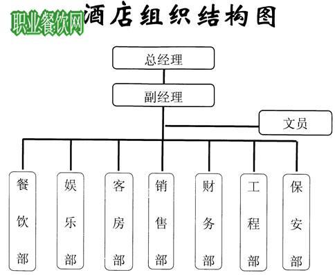 天和国际大酒店组织结构图