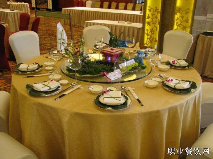 中餐宴会创意摆台图片