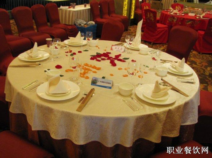 中餐宴会摆台图片_餐饮服务技能图片