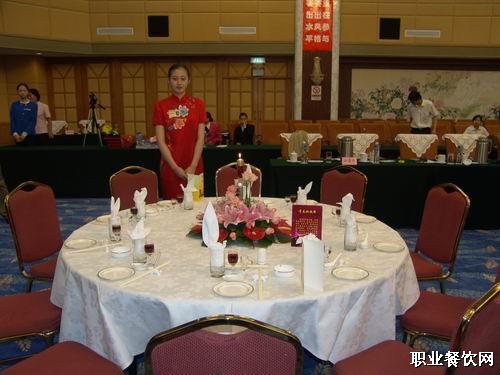中餐宴会摆台全套程序图片