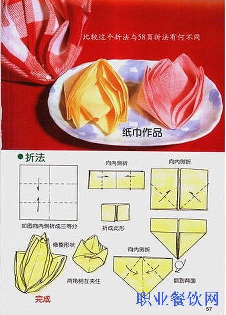 餐巾(口布)的30种新叠法_餐饮服务技能_职业餐饮网
