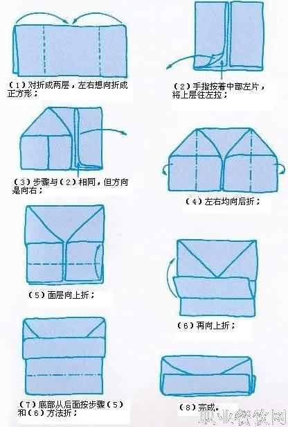 餐巾折花-餐饮服务技能-职业餐饮网