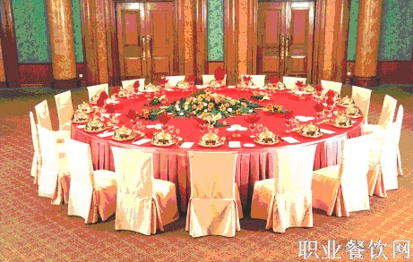 中餐宴会摆台_餐饮服务技能图片