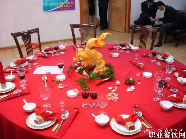 中餐摆台-宴会服务-职业餐饮网图片