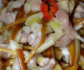 肚丝拌金针菇的做法