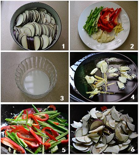 椒丝茄片的做法