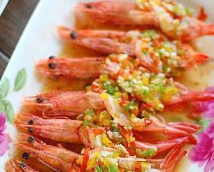 彩椒蒸对虾的做法