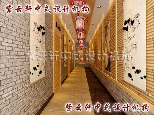 茶楼中式装修设计之包间过道:在历史的隧道中穿梭而过