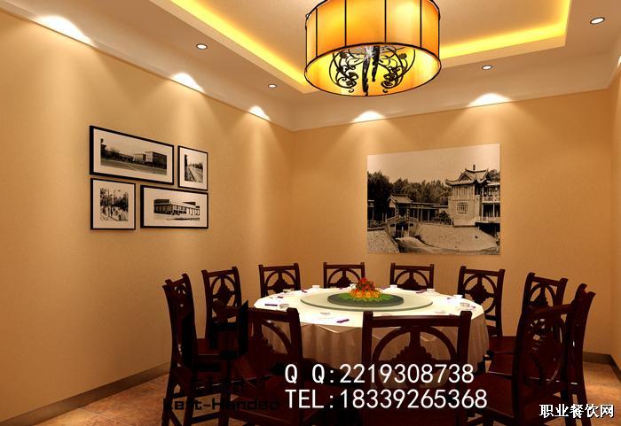 郑州饭店装修设计效果图二之包间2