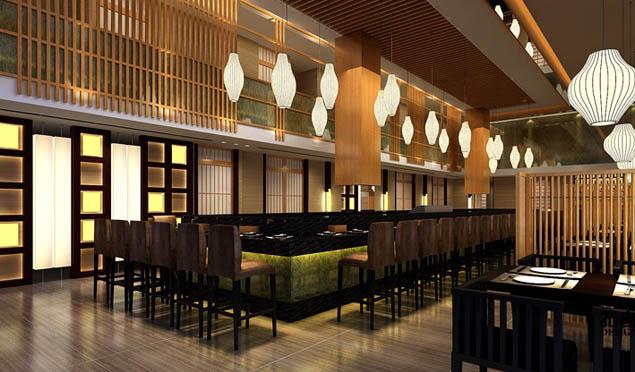 日式料理店装修设计效果图
