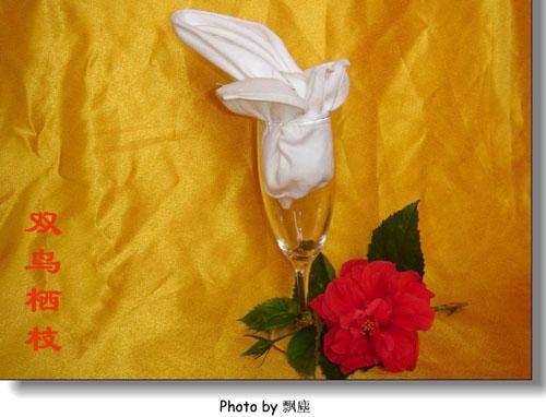 10种餐巾折花杯花的步骤用文字解说怎么折
